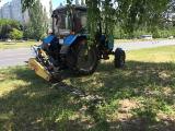 Покос травы трактором мтз (роторная косилка)