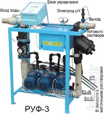 Растворные узлы для систем капельного полива.