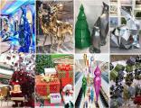 Производство новогодних декораций для торговых центров.