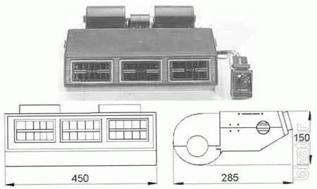 Электромотор вентилятор испарителя кондиционера 12/ 24В.
