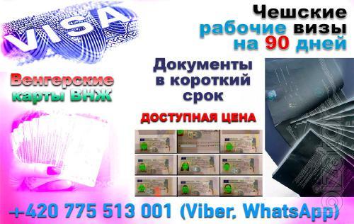 Подготовим пакеты документов для чешских или венгерских виз.