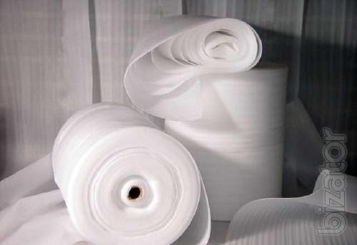 Завод производитель реализует вспененное полотно ППЭ