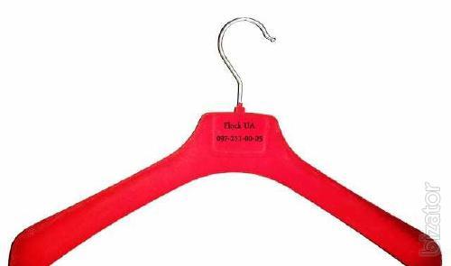 Плечики для одежды флокированные 40-42см