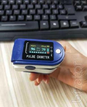 Электронный пульсоксиметр на палец Pulse Oximeter (Гарантия 12 месяцев