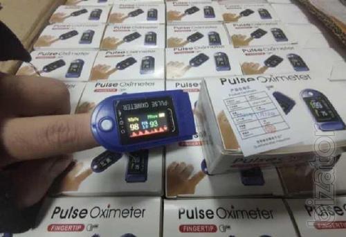 Пульсоксиметр, маска в подарок Пульсометр беспроводной Pulse Oximete