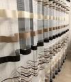 Тюль полоски коричневые на сетке
