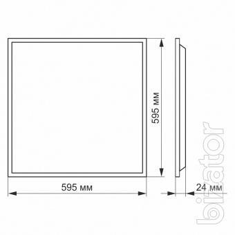 Led Панель Videx 60w 4100K 220v матова 2шт/упак 25808