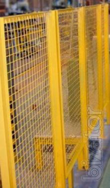 Промышленные внутрицеховые ограждения из сварной сетки 2d