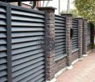 Заборы и ворота -жалюзи из металлических ламелей.