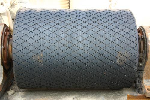 Rubber coating drums, shafts, rollers, tires.