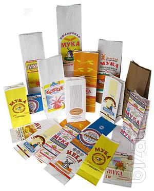 Paper bags for packing of flour and other bulk products