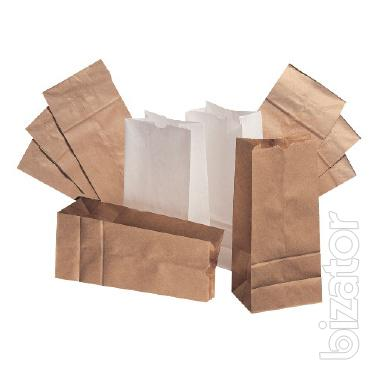 paper Bags for take-out food (Kraft paper bags)