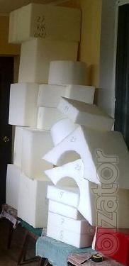 The foam in stock and products of it