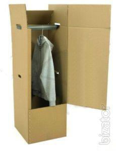 Corrugated cardboard rack for moving