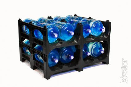 Pallets for storage and transport 19-liter bottles