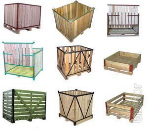 Wooden containers, packaging, boxes