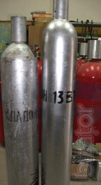 Freon - 13B1. Halon - 1301. THE 6-0-1104-87 grade 1. The cylinders 40 kg