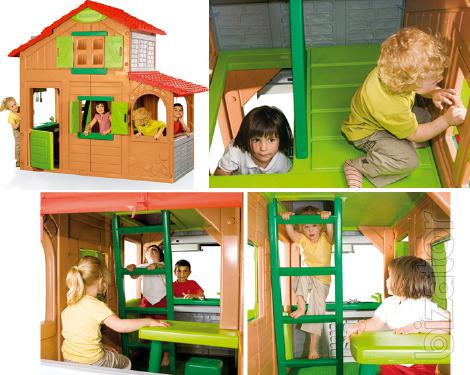 Children 39 s playhouse smoby 320020 duplex two cottages - Casa duplex smoby ...