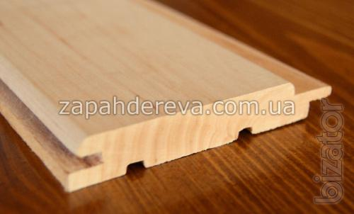 The wooden battens for baths, saunas. Alder forest light