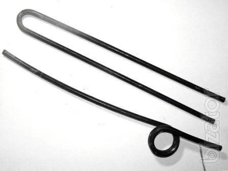 The spring fingers of the spring GVK-6. Quality products made of spring wire St-70. Diameter 6 mm