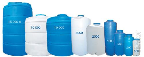 Plastic containers, barrels, tanks