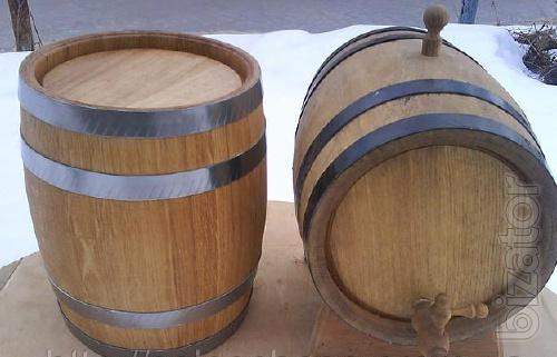 Ecological oak barrels.
