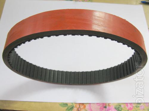 "Belt timing analog 255 L 125 + Linatex 7mm for cartoner ""citron"""