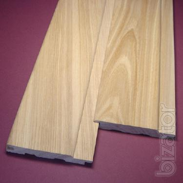 The oak paneling