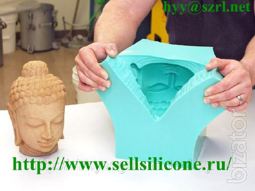 Silicone rubber for moulds