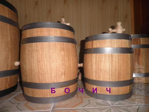 Wooden oak barrels for wine and pickles