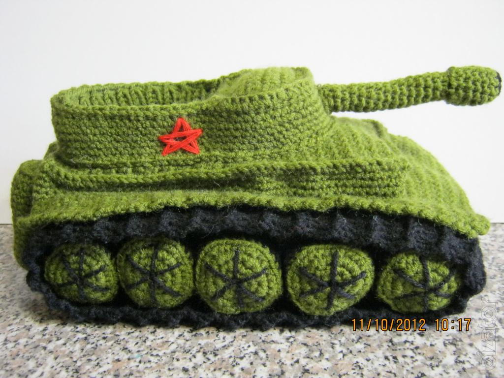 Knitting Pattern For Army Tank Slippers : Knitted slipper tanks - Buy on www.bizator.com