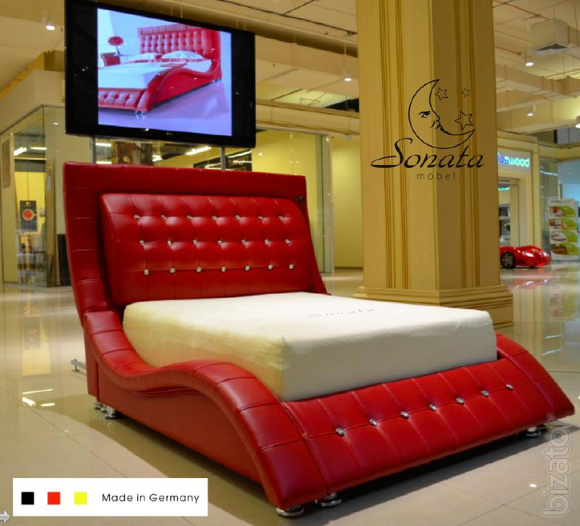 Leather Bed White Color Modern Bedroom High Tech Exclusive German Furniture Buy On Www