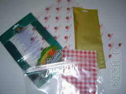 Vacuum bags for packing fish, meat, vegetables.