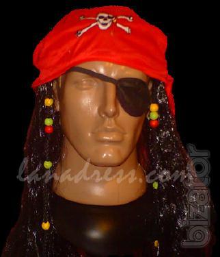 Pirate Bandana Wig