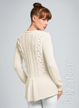 Вязание белого свитера женского спицами
