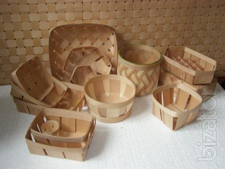 baskets for packing in beech veneer