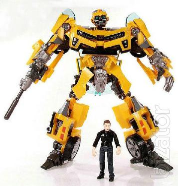 Robot-transformer Bumblebee with Sam with sound and light effects