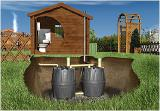 Septic tank for Sewerage on the basis of the Herkules tank (Graf Germany)