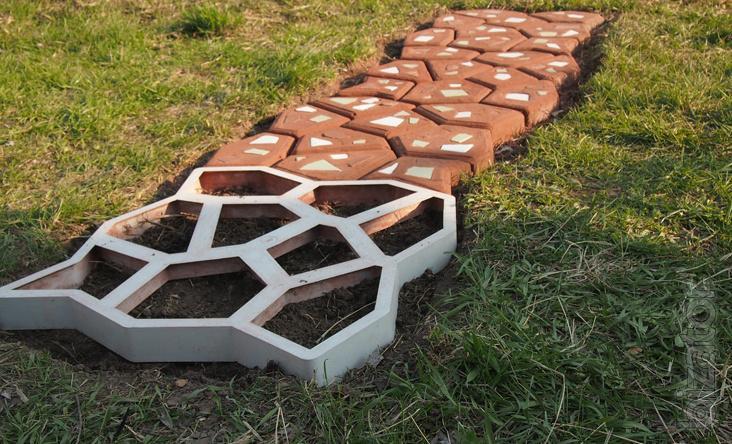 Тротуарная плитка из форм