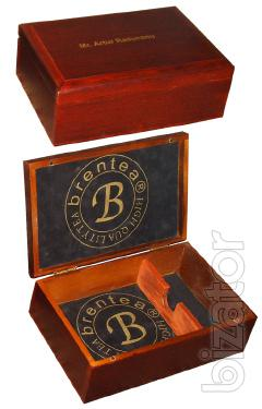 Wooden gift box. Production.