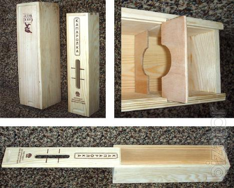 Exclusive wooden packing.