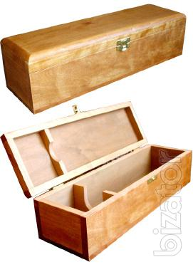 Wooden gift box.