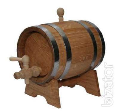 Wooden oak barrels. Cooperage