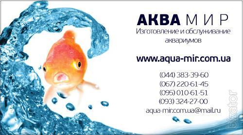 Maintenance of aquariums Kiev
