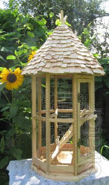 Bird cage. Cage for parrots. Wooden, exclusive. Cage for small parrots. Cage for medium sized parrots.