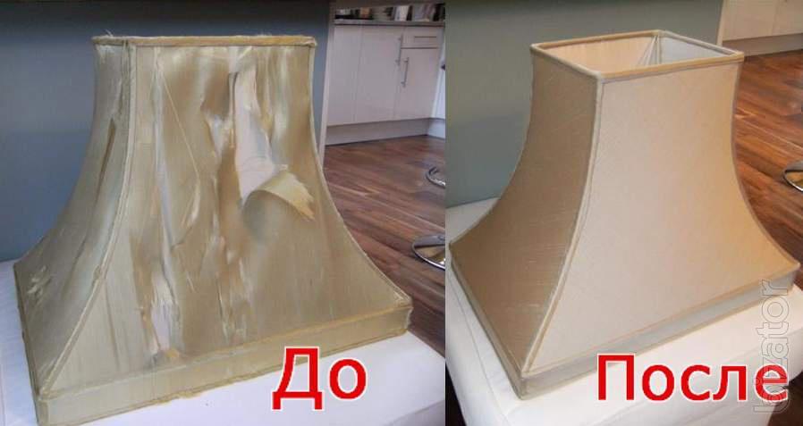Как обтянуть торшер тканью