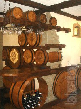 Made oak casks and barrels.