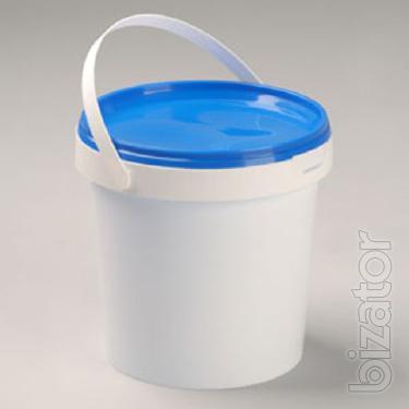 Will sell a bucket plastic 1 liter