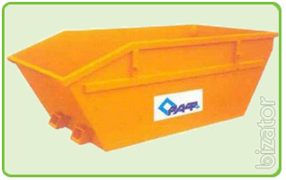 Removable storage silo 8m3, without cover. Container for outdoor construction waste