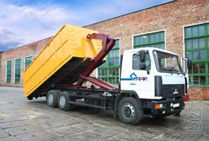 Roller container 15m3. The tank construction and industrial waste